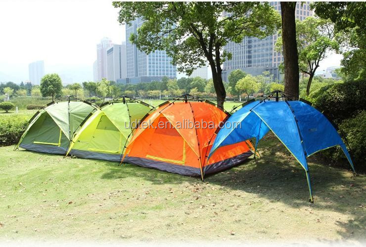 OEM Outdoor Tent 3-4 People Rainproof Camping Equipment Two People Double Layer Free of Building and Quick Open UD16029