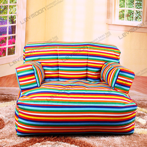 free shipping striped bean bag bazaar 100 cotton canvas huge bean bag chairs without filling. Black Bedroom Furniture Sets. Home Design Ideas