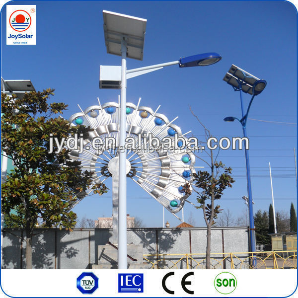 ce approved solar street lamp/solar post street lights/solar panel led street lamp