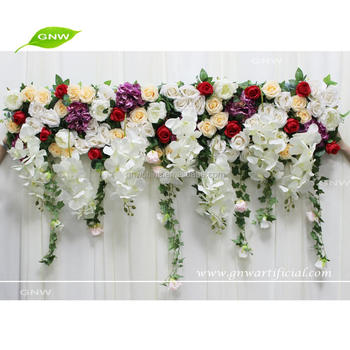 Gnw Flw1708005 Hanging Rose Hydrangea Flower Wall Decoration Wedding For Arrangement Buy Decoration Wedding Arrangement Hanging Flower