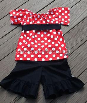 a87ed94e2 Venda quente Camisa Camponês & Plissado Na Altura Do Joelho Calções Roupa  Boutique Meninas Adolescentes Sash