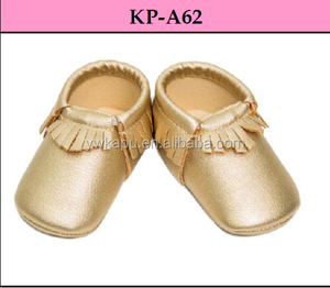 New fashion high quality newborn baby moccasins leather soft baby shoe in china