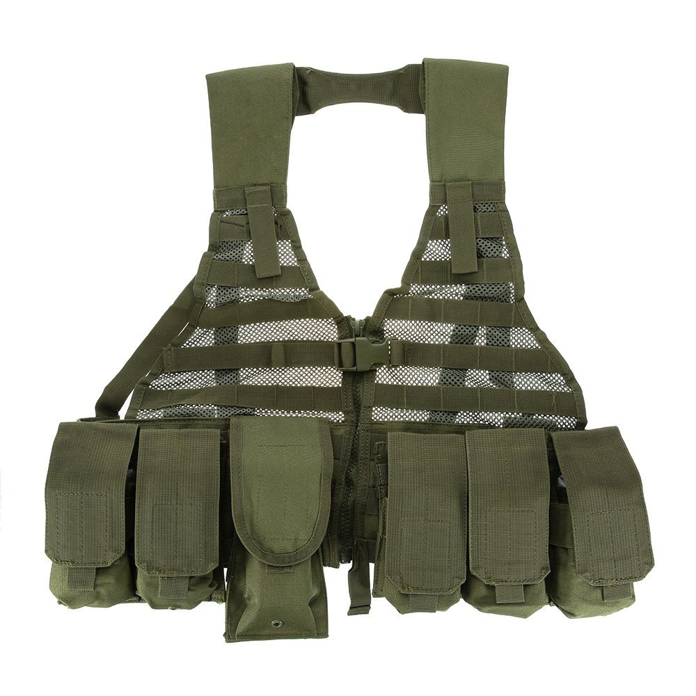 0fb731bff2a73 Get Quotations · Docooler Outdoor Modern Warrior Tactical Hunting Vest Dark  Green Military Multi-purpose Vest Tactical Gear