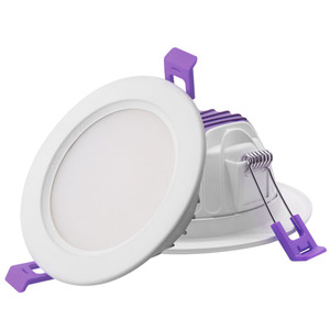 wholesale price purple indoor embedded light 18w recessed lamp ip44 led downlight for home