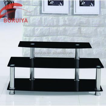 Gl Monitor Stand Modern Tv Cabinet Fancy Design Living Room Furniture