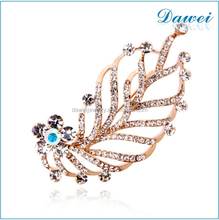 manufacturers rhinestone feather brooches wholesale factory