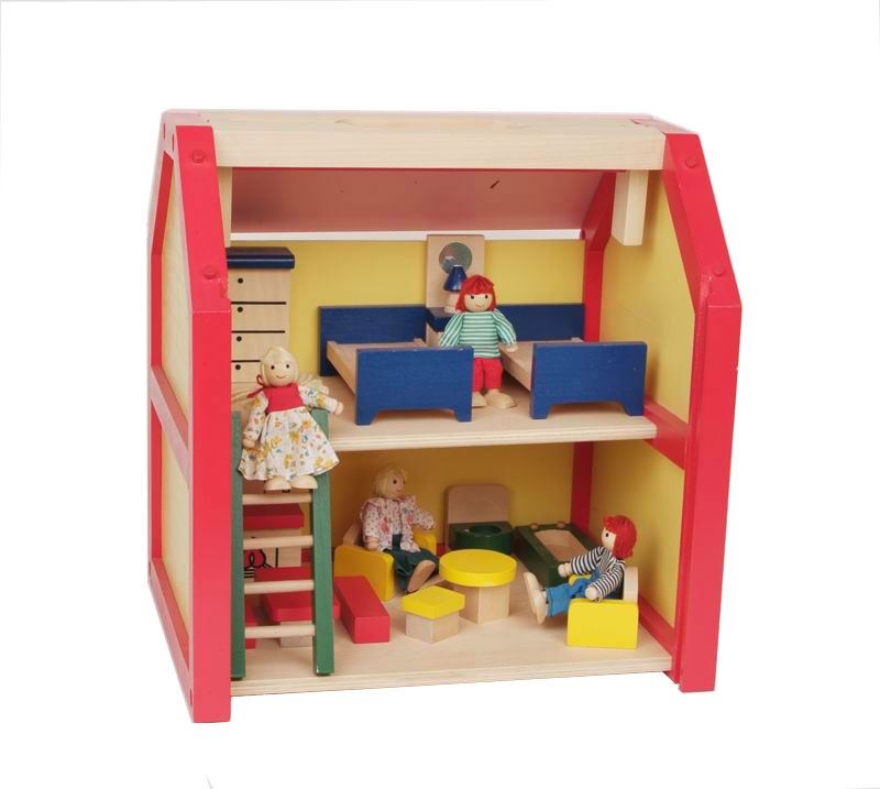 wooden toy house,Portable dolls house furniture PY2003