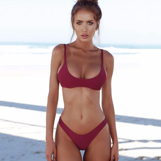 2019 ผู้หญิงเซ็กซี่ชุดว่ายน้ำชุดว่ายน้ำบิกินี่ Push Up ชุดว่ายน้ำ Beachwear ชุดว่ายน้ำชุดว่ายน้ำ Biquini ชุดบิกินี่