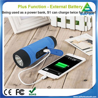 S1 portable Wireless Power Bank Bluetooth Speaker subwoofer with 4000mAh Battery and Led Flashlight for outdoor sports Company