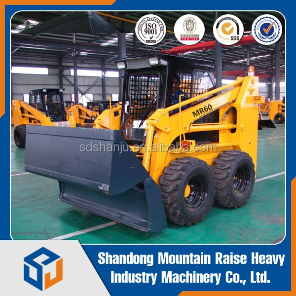 various attachments 850kg mini skid steer loader