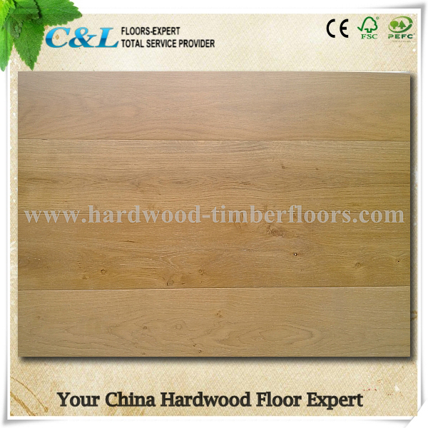 C&L natural color oak 3 layers engineered wood flooring