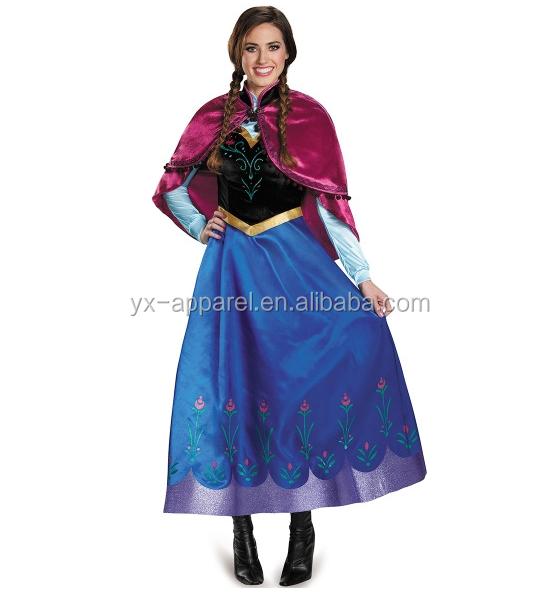 Women Halloween Cosplay Disny Frozen Fancy Elsa Dress Belle