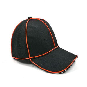 Unionpromo waterproof 100% cotton led flashing baseball cap led
