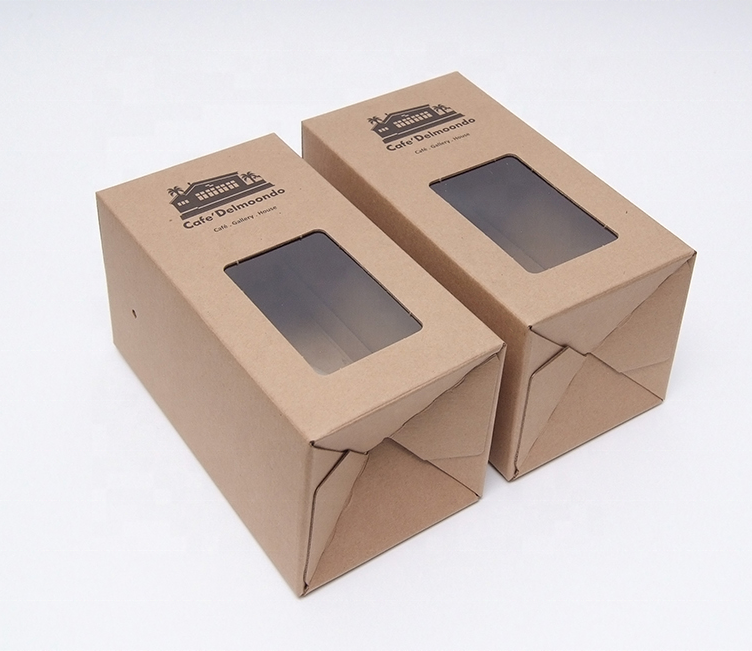 200pcs Straw <strong>Eco</strong>- Friendly Printed Customized Kraft Cardboard Packaging Box with PVC window