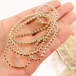 3mm ball bead chain fashion gold