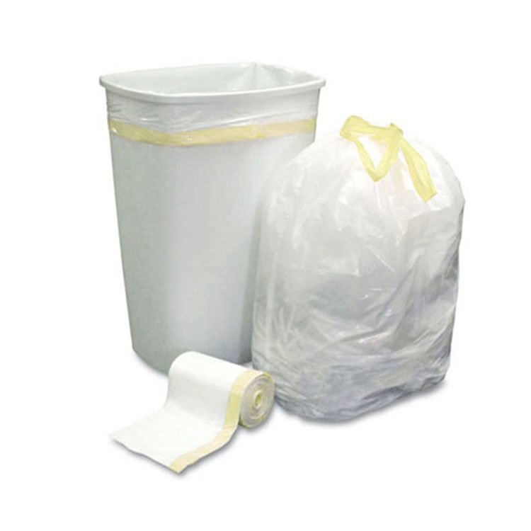 35Pcs/Rolls Tangjin Produce Clear Raw Material Pe Bag Outdoor Or Home Use Tear Off Trash Rubbish Garbage Bag For Can Liner