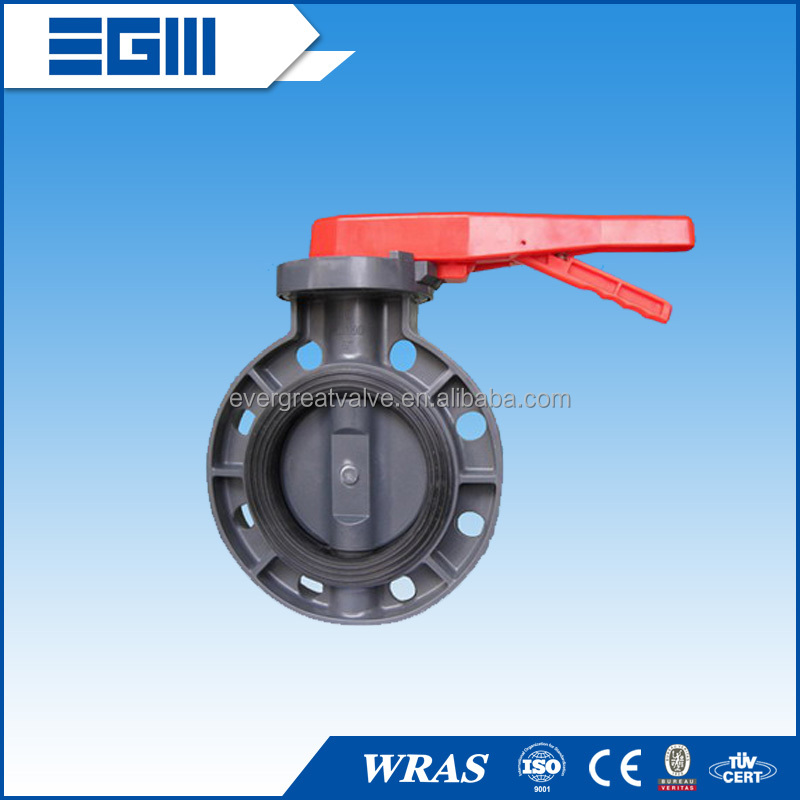 Plastic Butterfly Valve, Lever Operated