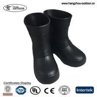 Kids Children Waterproof EVA Black Rain Boots