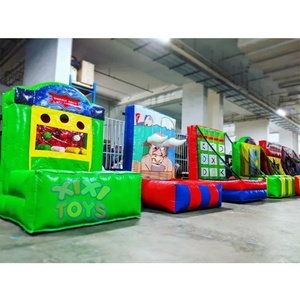 XIXI TOYS 2019 Hot Sale 8 in 1 Inflatable Ring Toss Carnival Games,inflatable basketball shooting game