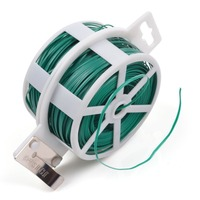328 feet green multi-function sturdy green plant twist tie wire with cutter