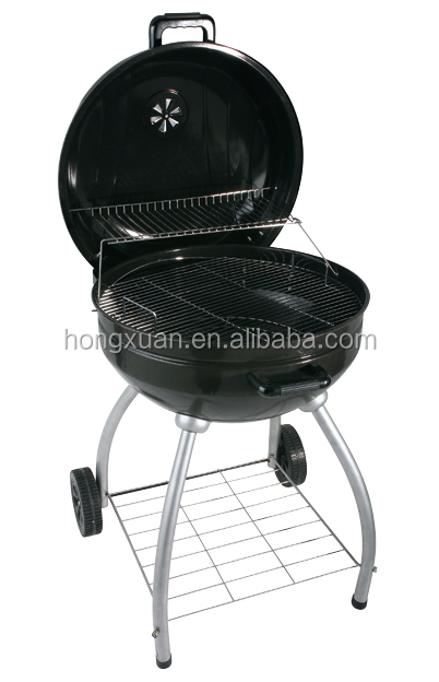 professional factory bbq grill with 4 legs and 2 wheels