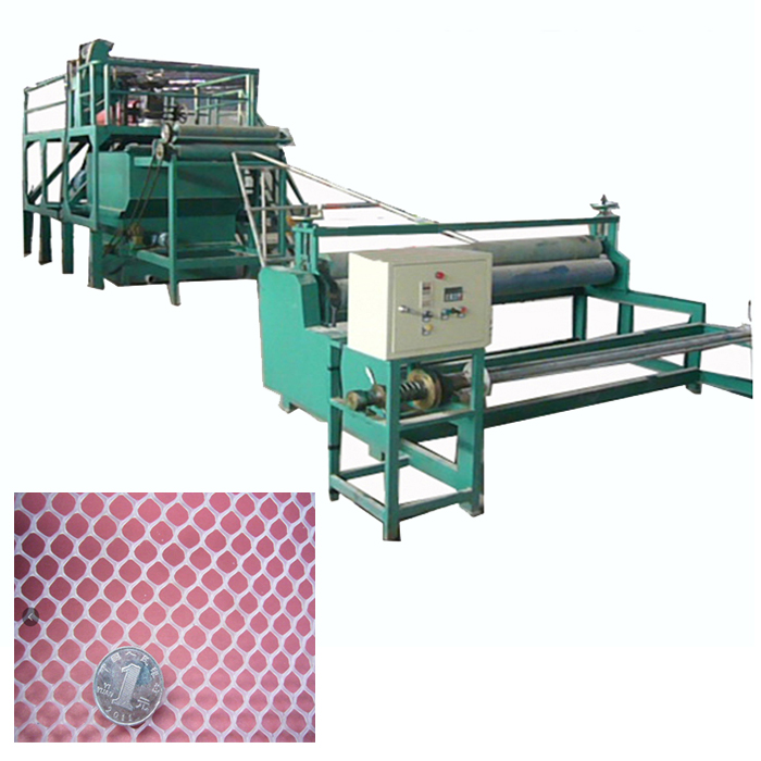 high output plastic breeding net making machine extruded plastic mesh