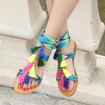 534b7212d Ns0444 European Fashion Women Summer Cansual Tassels Sandals - Buy ...