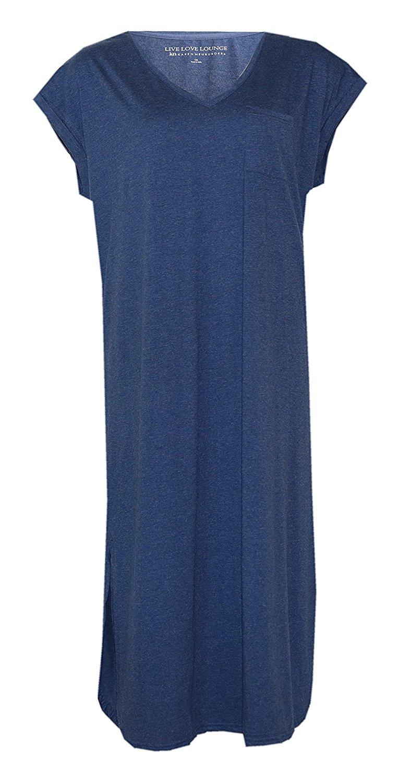 Get Quotations · Karen Neuburger Live Love Lounge Maxi Lounge Dress    Nightgown 68e20f4b1