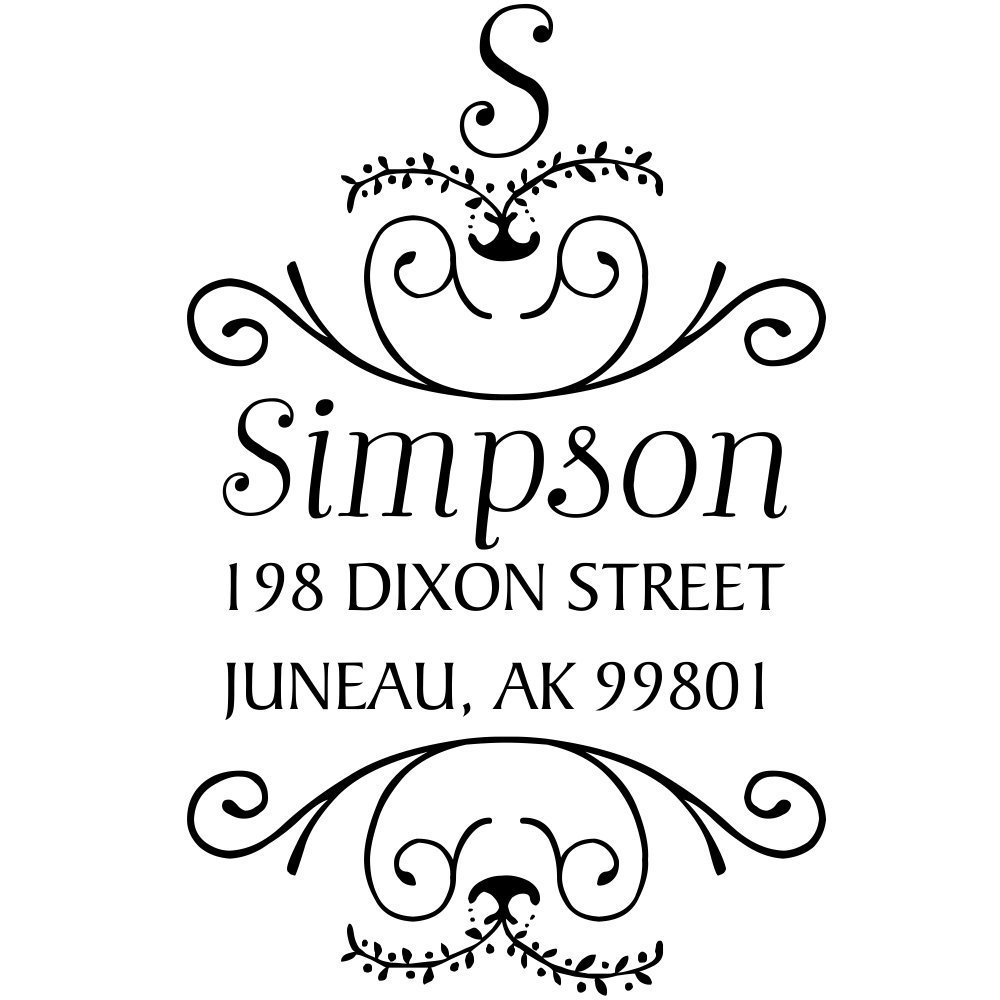 buy simpson ornamental address stamp decorative address stamps