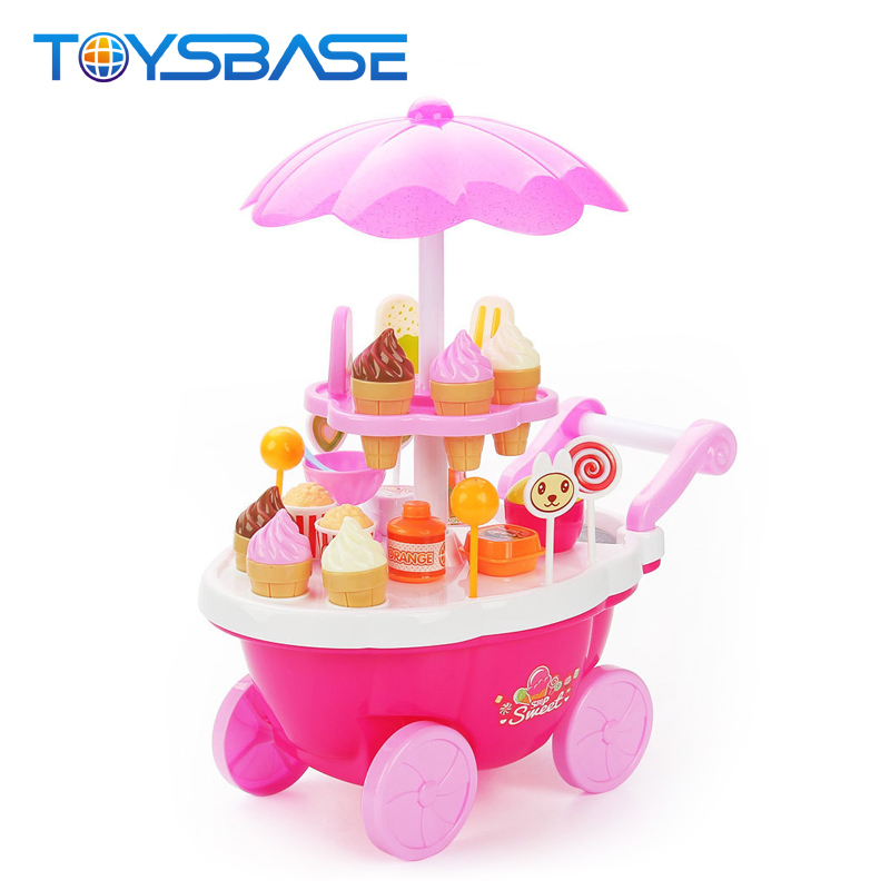 Competent Mini Shopping Cart Toy Cart Simulation Supermarket Shopping Cart Storage Pretend Play Cake Decoration Accessories Home & Garden