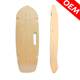 Single Kick Tail Skateboard 28 Inch Cheap Cruiser Shortboard Canadian Maple Wood Skateboard Deck