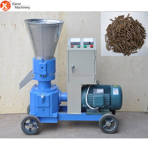 Small biomass wood pellet making machine with flat die for sale
