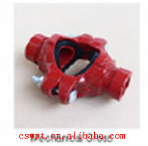 1''-12'' China manufacturer- ductiloe iron pipe fitting and coupling-grooved mechanical cross FM&UL&ISO