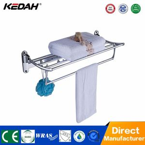 Towel racks for family and hotel bathrooms adjustable towel rack brass wall towel shelf holder