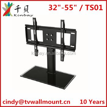 led tv samrt samsuny tv table mount tv bracket with glass and