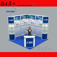 L Shape fit for 3x3 or 4x4 or 4x5 etc easily portable exhibition booth, design and make exhibition system