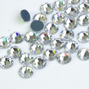 16 Facets Hotfix Rhinestone, SS3-SS40 Glue crystal rhinestone, Hot fix Imitational Diamond Wholesale for Wedding Dress