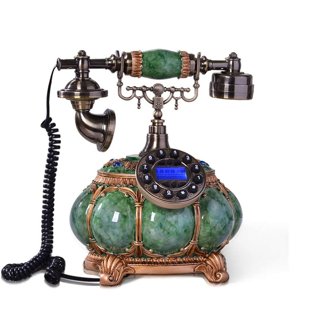 ZYN Phone Antique Creative European Style Landline Fixed Home Phone Caller ID NYZ (Size : L25CMW21CMH30CM)