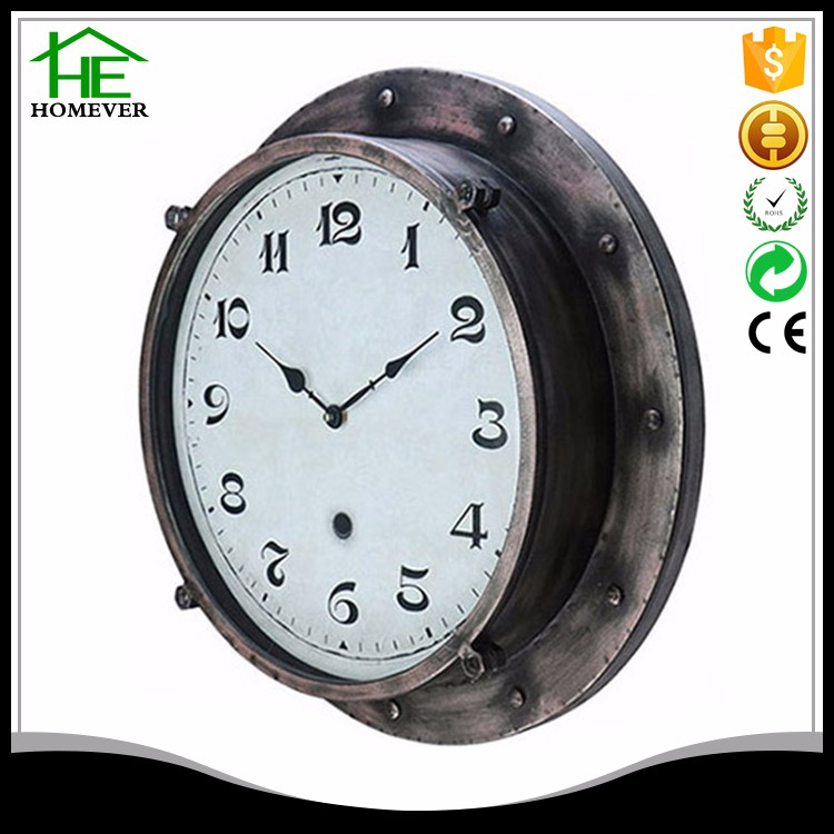 design antique reproduction iron art craft wall clock