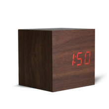 Hout Mode multifunctionele LED Houten Digitale <span class=keywords><strong>Wekker</strong></span>