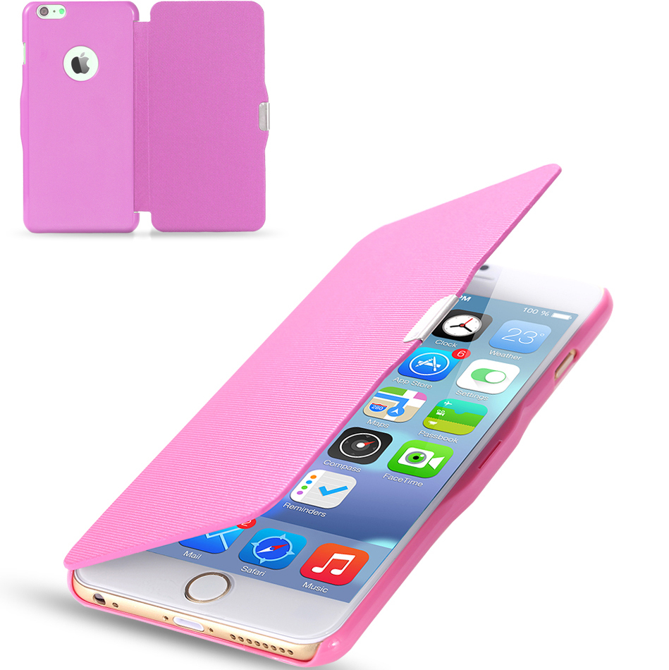 2015 Magnetic Chip PU Leather Flip Case For Apple iphone 6 4.7inch /For iphone 6 Plus 5.5 inch Slim Regular Pattern Phone Cover