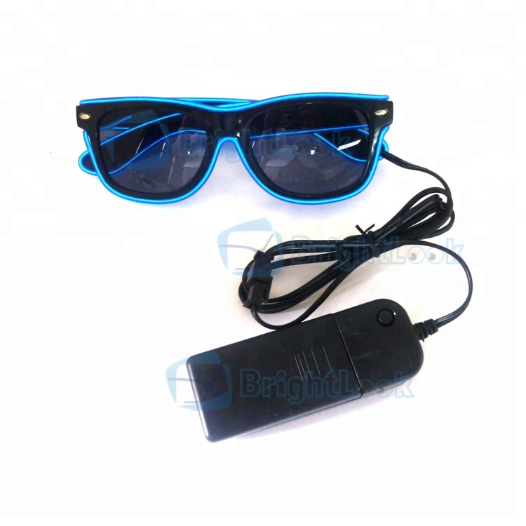 Vintage style holiday party cool fashion male led light sunglasses