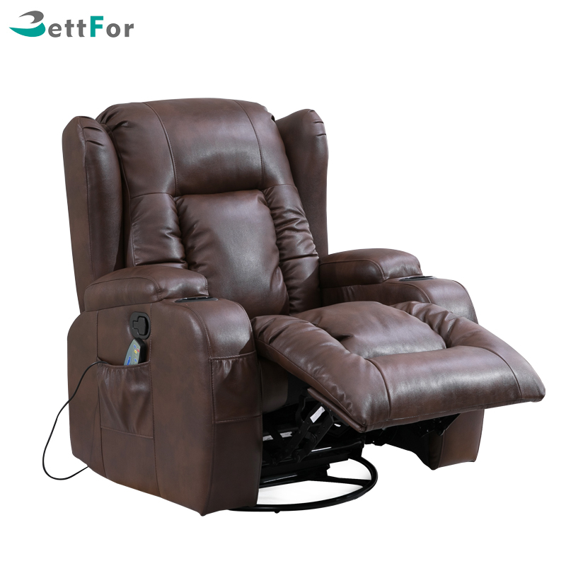 Vibration massage recliner leather <strong>sofa</strong> BRC-322