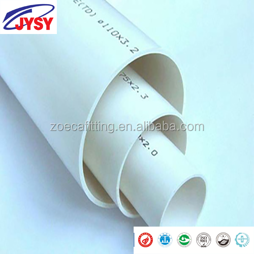 High Quality PVC-U drain pipe size 160mm UPVC water pipes