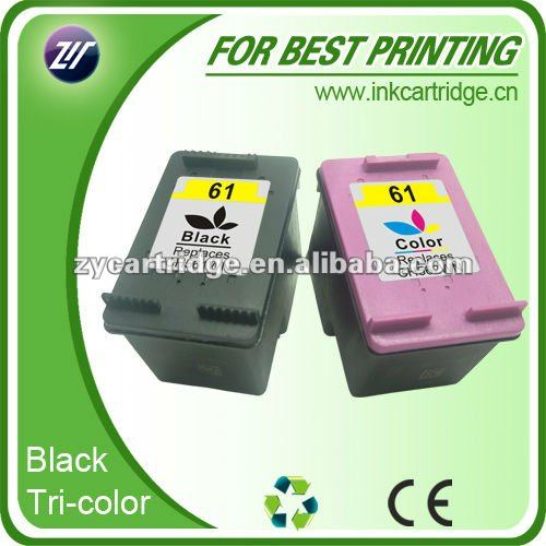 Directly factory suppliers compatible inkjet cartridge for hp CH561W(61)