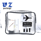 Custom logo PVC EVA travel bag clear pvc zipper pouch