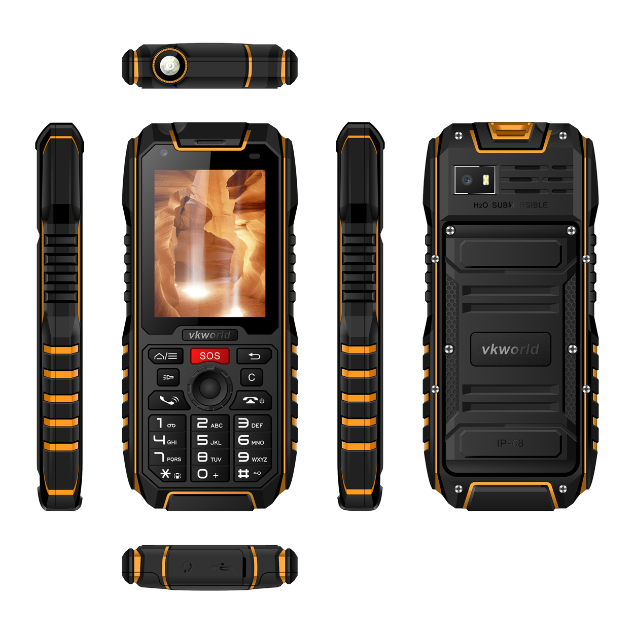 New Product Rugged IP68 Mobile Phone Vkworld New Vkworld V5 2G IP68 Waterproof cheap Mobile Phone Big Bettery
