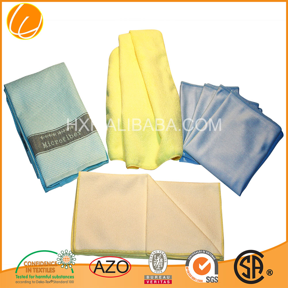 2017 Custom Promotion High Quality Hot Sale streak free microfiber cloth China Wholesale OEM Microfiber Manufacture Factory
