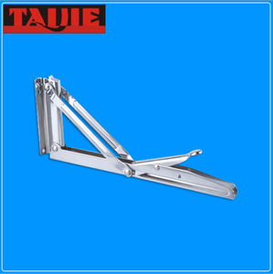 Foldable steel workstation shelf bracket in chrome plated