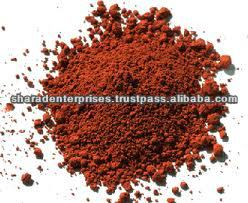 Red colour ochre powder